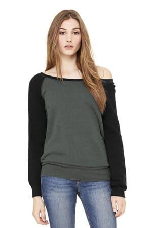 BC7501 bella canvas women's sponge fleece wide-neck sweatshirt