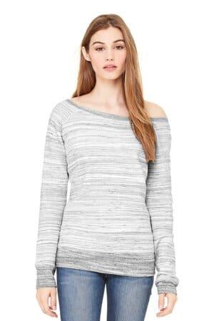 bella canvas women's sponge fleece wide-neck sweatshirt bc7501