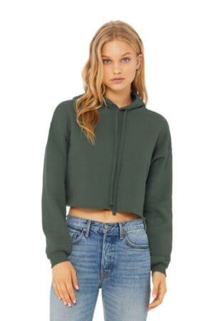 BC7502 bella canvas women's sponge fleece cropped fleece hoodie