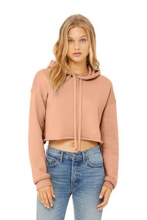 bella canvas women's sponge fleece cropped fleece hoodie bc7502