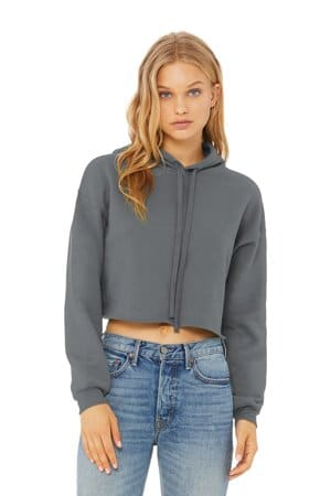 bella canvas women's sponge fleece cropped fleece hoodie bc7502