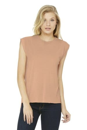 BC8804 bella canvas women's flowy muscle tee with rolled cuffs