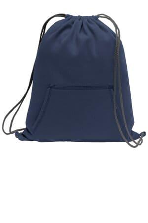 port & company core fleece sweatshirt cinch pack bg614