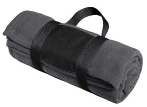 BP20 port authority fleece blanket with carrying strap