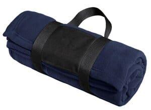 port authority fleece blanket with carrying strap bp20