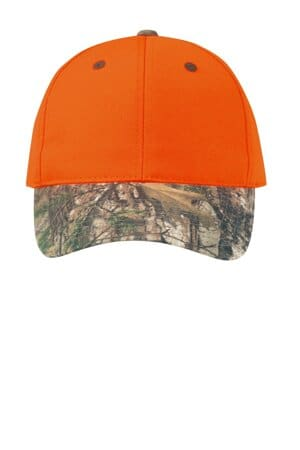port authority enhanced visibility cap with camo brim c804
