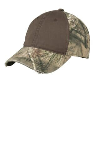 port authority camo cap with contrast front panel c807