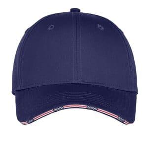 C829 port authority americana flag sandwich cap