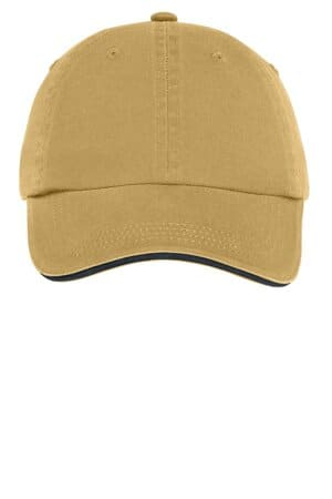 port authority sandwich bill cap with striped closure c830