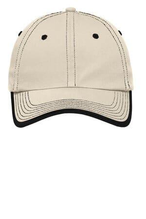 C835 port authority vintage washed contrast stitch cap