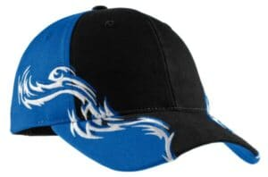 port authority colorblock racing cap with flames c859