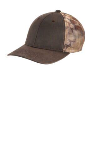 C891 port authority pigment print camouflage mesh back cap