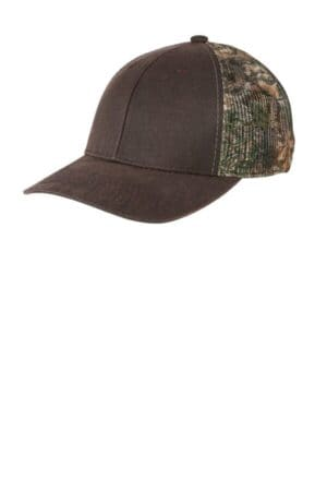 port authority pigment print camouflage mesh back cap c891