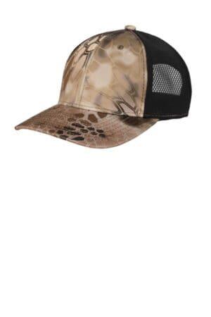 port authority performance camouflage mesh back snapback cap c892