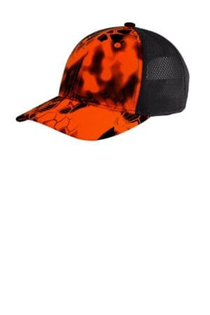 port authority performance camouflage mesh back snapback cap c892