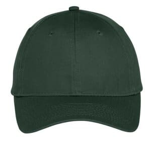 port & company six-panel unstructured twill cap c914