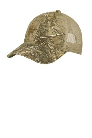 port authority unstructured camouflage mesh back cap c929