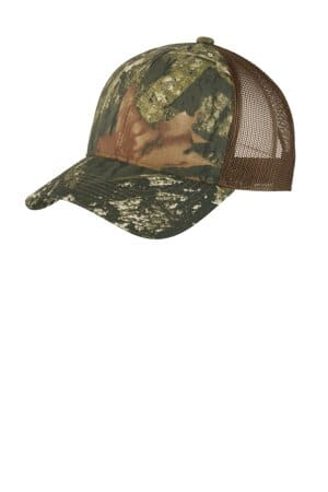 port authority structured camouflage mesh back cap c930