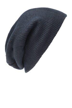 C935 port authority rib knit slouch beanie