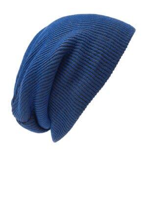 C935 port authority rib knit slouch beanie c935