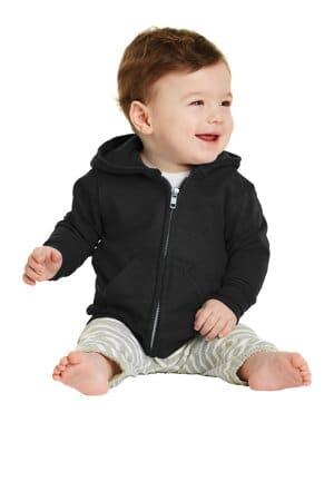 port & company infant core fleece full-zip hooded sweatshirt car78izh