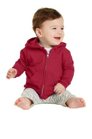 CAR78IZH port & company infant core fleece full-zip hooded sweatshirt