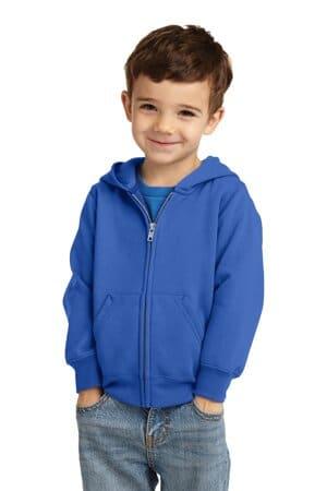 CAR78TZH port & company toddler core fleece full-zip hooded sweatshirt