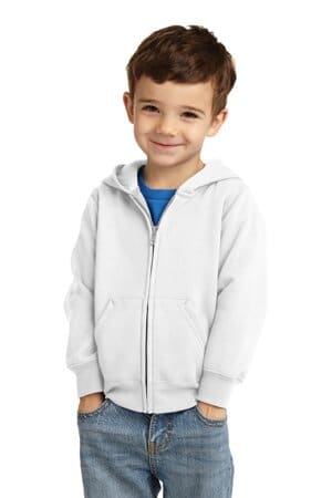 port & company toddler core fleece full-zip hooded sweatshirt car78tzh
