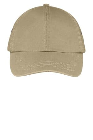 CP81 port & company fashion twill cap with metal eyelets