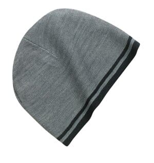 port & company fine knit skull cap with stripes cp93