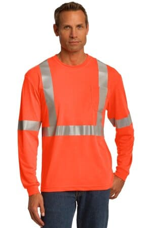 cornerstone ansi 107 class 2 long sleeve safety t-shirt cs401ls