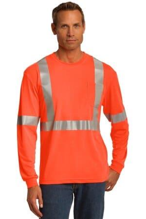 CS401LS cornerstone ansi 107 class 2 long sleeve safety t-shirt