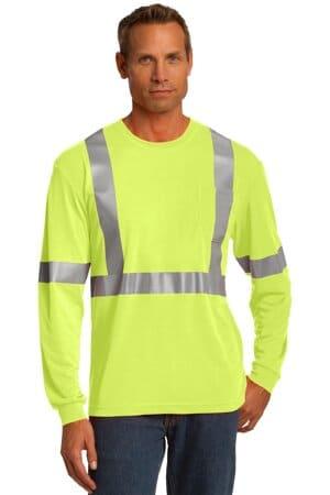 cornerstone ansi 107 class 2 long sleeve safety t-shirt cs401ls