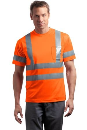 cornerstone-ansi 107 class 3 short sleeve snag-resistant reflective t-shirt cs408