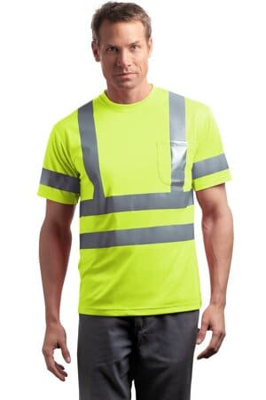 cornerstone-ansi 107 class 3 short sleeve snag-resistant reflective t-shirt cs408