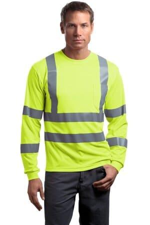 cornerstone-ansi 107 class 3 long sleeve snag-resistant reflective t-shirt cs409