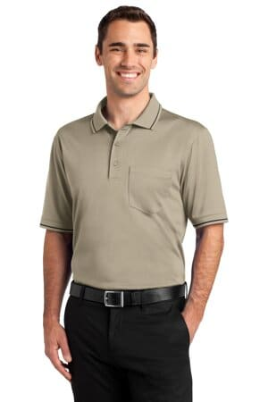 cornerstone select snag-proof tipped pocket polo cs415