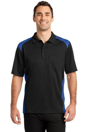 cornerstone select snag-proof two way colorblock pocket polo cs416