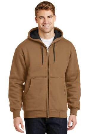cornerstone-heavyweight full-zip hooded sweatshirt with thermal lining cs620