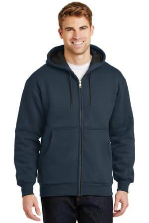 cornerstone-heavyweight full-zip hooded sweatshirt with thermal lining cs620
