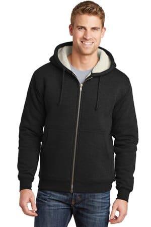 cornerstone heavyweight sherpa-lined hooded fleece jacket cs625