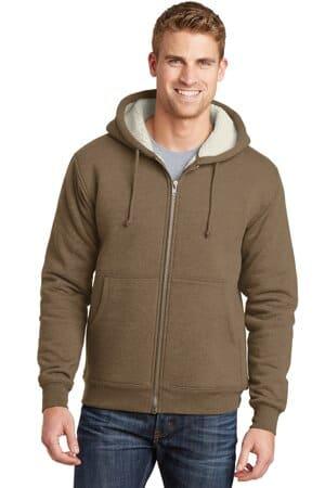 CS625 cornerstone heavyweight sherpa-lined hooded fleece jacket