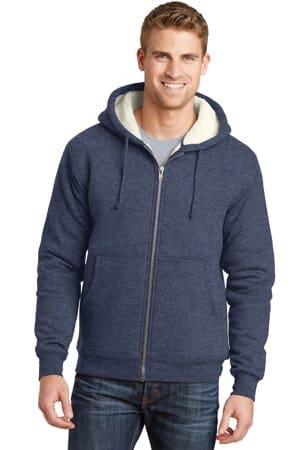 cornerstone heavyweight sherpa-lined hooded fleece jacket cs625