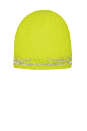 CS804 cornerstone lined enhanced visibility with reflective stripes beanie