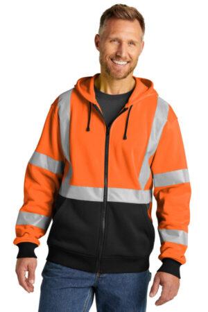 CSF300 cornerstone a107 class 3 heavy-duty fleece full-zip hoodie