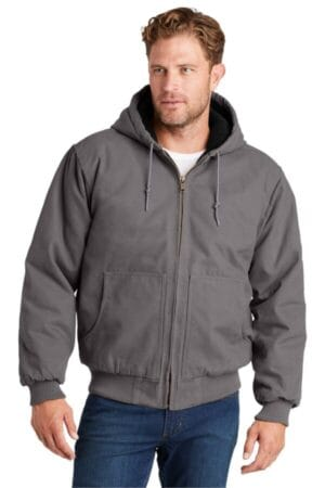 CSJ41 cornerstone washed duck cloth insulated hooded work jacket