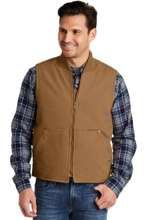 CSV40 cornerstone washed duck cloth vest csv40