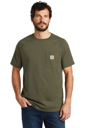 carhartt force cotton delmont short sleeve t-shirt ct100410