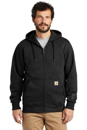 CT100614 carhartt rain defender paxton heavyweight hooded zip-front sweatshirt