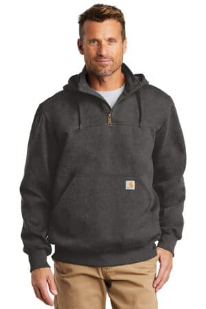 carhartt rain defender paxton heavyweight hooded zip mock sweatshirt ct100617